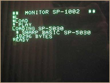 Monitor SP-1002 and Basic SP-5030